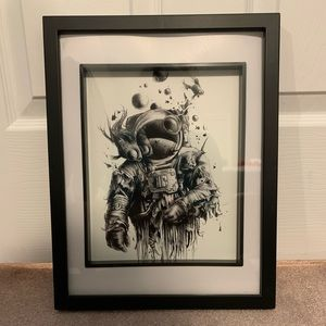 Other - Astronaut print with frame